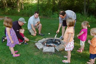 Cobbers-making smores