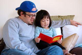 Em & Daddy-reading